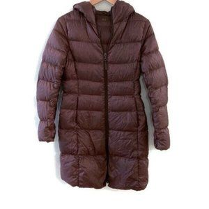 UNIQLO Ultra Light Down Hooded Coat- Brown.